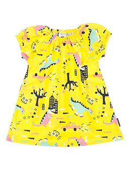 Baby Girls Dinosaur Town Dress
