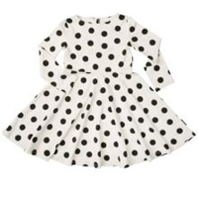 Polarn O. Pyret Baby Girls Spot Print Dress