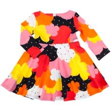 Polarn O. Pyret Baby Girls Retro Print Dress