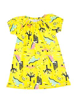 Girls Dinosaur Town Dress