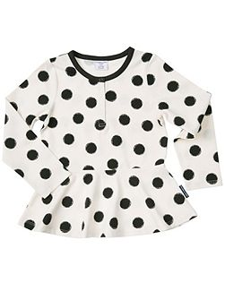 Girls Abstract Dot Print Top