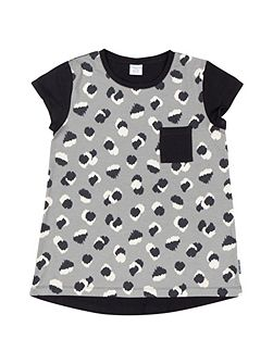 Girls Abstract Print Top