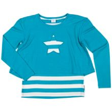 Polarn O. Pyret Girls Striped Layer Top