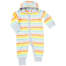 Polarn O. Pyret Babies Striped Overall with Hood