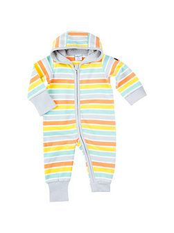 Babies Striped Overall with Hood