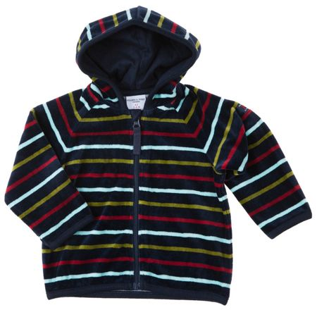 Polarn O. Pyret Babies Striped Velour Hoodie