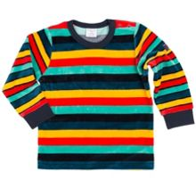 Polarn O. Pyret Babies Striped Velour Top