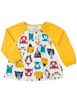 Baby Girls Woodland Animal Tunic Top