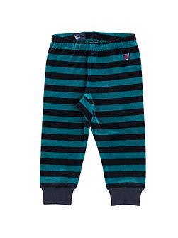 Babies Striped Velour Trousers