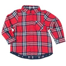 Polarn O. Pyret Baby Boys Reversible Checked Shirt