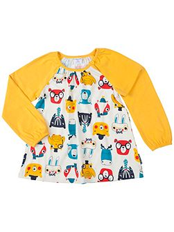 Girls Woodland Animal Tunic Top
