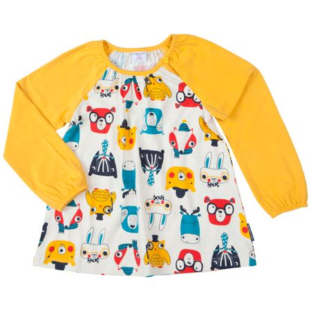 Polarn O. Pyret Girls Woodland Animal Tunic Top