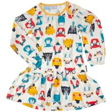 Polarn O. Pyret Girls Woodland Animal Dress