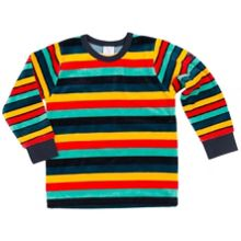 Polarn O. Pyret Kids Striped Velour Top