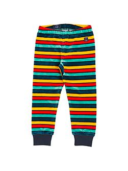 Kids Striped Velour Trousers