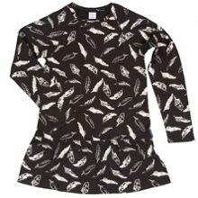 Polarn O. Pyret Girls Feather Print Dress