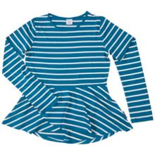 Polarn O. Pyret Girls Striped Peplum Top