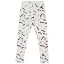 Polarn O. Pyret Girls Feather Print Leggings
