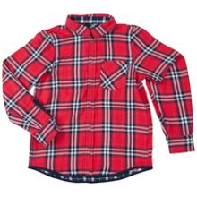 Polarn O. Pyret Boys Reversible Checked Shirt