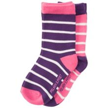 Polarn O. Pyret Baby Girls Striped Socks