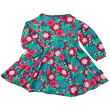 Polarn O. Pyret Baby Girls Elephant and Flowers Dress