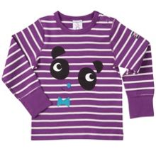 Polarn O. Pyret Babies Striped Panda Top