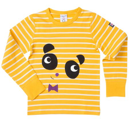 Polarn O. Pyret Kids Striped Panda Top