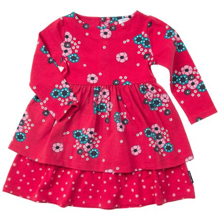Polarn O. Pyret Baby Girls Floral Layer Dress