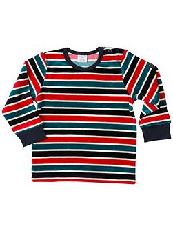 Babies Striped Velour Top