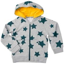Polarn O. Pyret Kids Cosy Star Print Hoodie