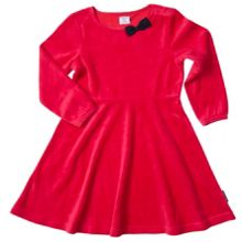 Polarn O. Pyret Girls Velour Party Dress