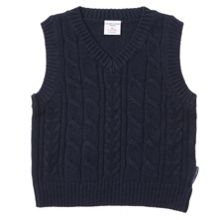 Polarn O. Pyret Baby Boys Cable Knit Tank Top
