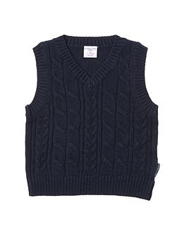 Baby Boys Cable Knit Tank Top