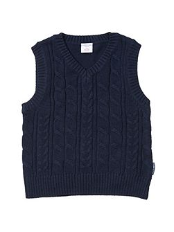 Boys Cable Knit Tank Top