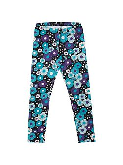 Girls Bold Floral Leggings