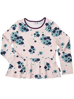 Girls Floral Peplum Top