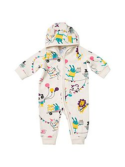 Babies Party Animal Overall with Hood