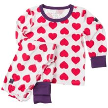 Polarn O. Pyret Girls Heart Print Pyjamas