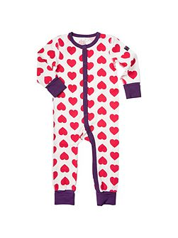 Babies Heart Sleepsuit