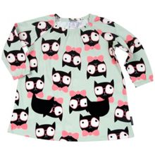 Polarn O. Pyret Baby Girls Cat Print Dress
