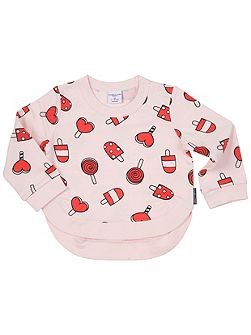 Baby Girls Print Sweatshirt Top