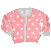 Polarn O. Pyret Baby Girls Polka Dot Cardigan
