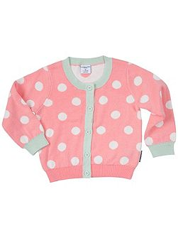 Baby Girls Polka Dot Cardigan
