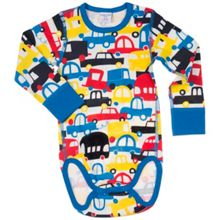 Polarn O. Pyret Baby Boys Car Print Sleepsuit