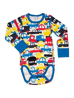 Baby Boys Car Print Sleepsuit
