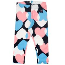 Polarn O. Pyret Baby Girls Heart Print Leggings