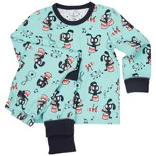 Polarn O. Pyret Kids Musical Animal Print Pyjamas
