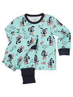 Kids Musical Animal Print Pyjamas