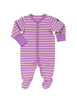 Baby Girls Striped Sleepsuit