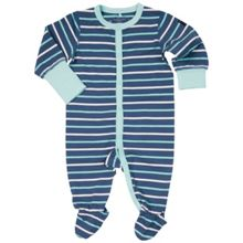 Polarn O. Pyret Baby Girls Striped Sleepsuit
